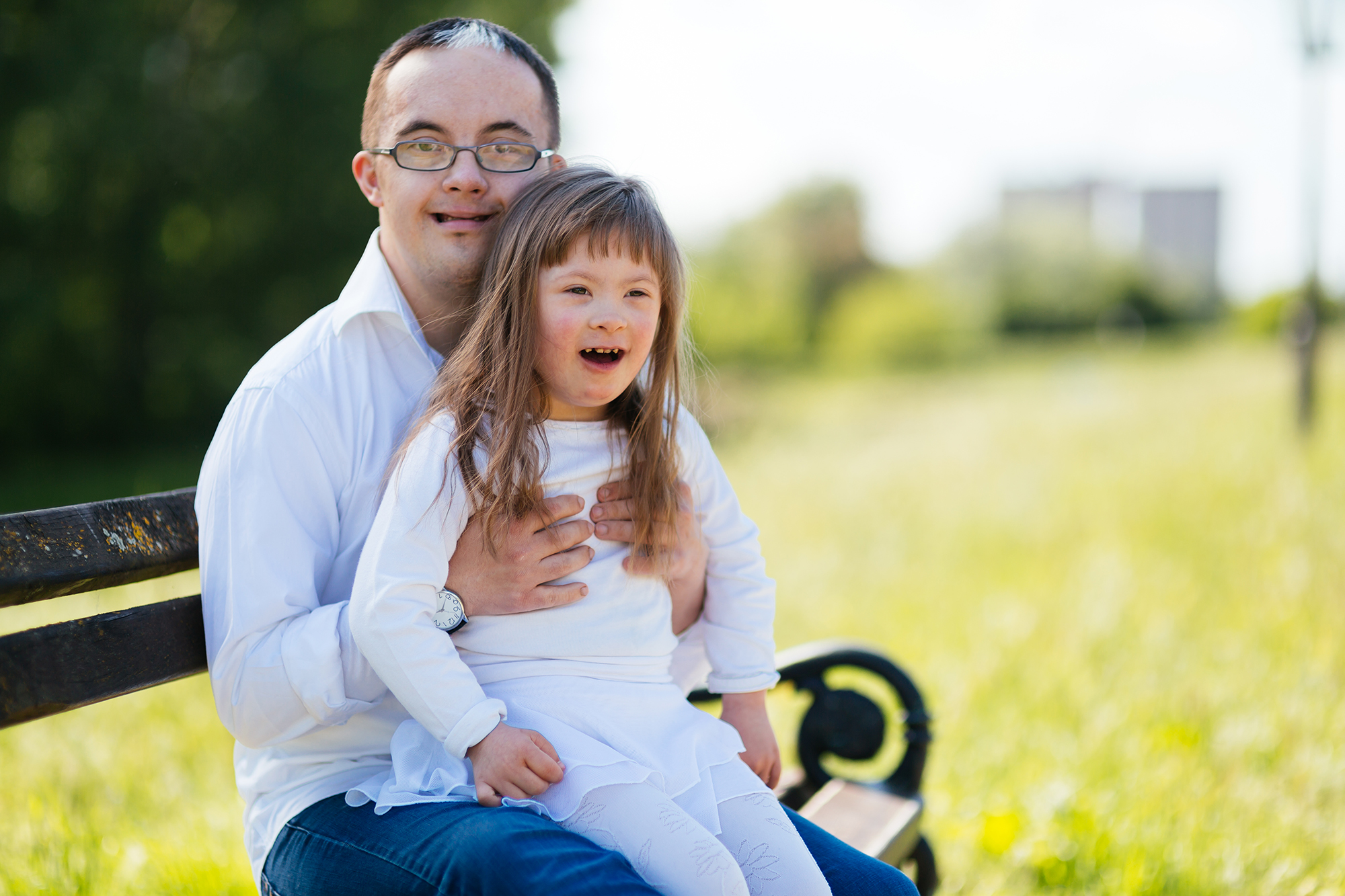 People with down syndrome sharing positive emotions